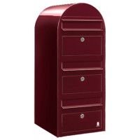 Brievenbus Bobi Trio Bordeaux Rood